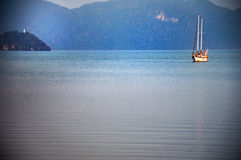 THE BOATS IN THE BLUE SEA Royalty Free Stock Photography