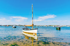 Boats with blue sky Royalty Free Stock Image
