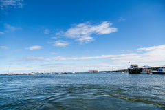 Boats on Blue Water in Rockland Royalty Free Stock Images
