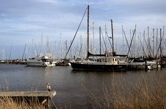 Boats. Boat dock in Volendam Netherlands stock photography