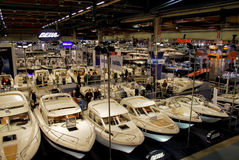 Boats at Boat Show Stock Photo