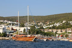 Boats in Bodrum Town Royalty Free Stock Photography