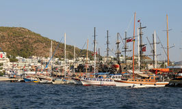 Boats in Bodrum Town Stock Photo