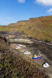 Boats in Boscastle harbour Cornwall England UK Stock Photography
