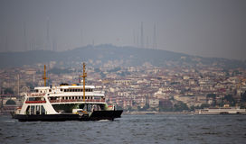Boats on the Bosphorus river Stock Photography