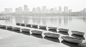 Boats of Boston Stock Photo
