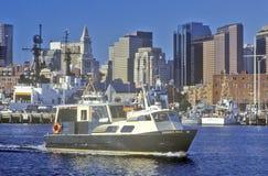 Boats in Boston Harbor, Boston, Massachusetts Stock Photos