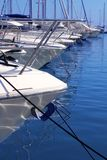 Boats bow in marina Mediterranean sea bow detail Royalty Free Stock Image