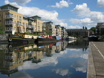 Boats in Brentford Marina, London, UK Stock Photos