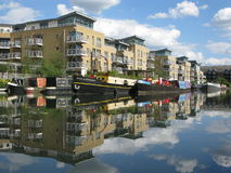 Boats in Brentford Marina, London, UK Royalty Free Stock Images