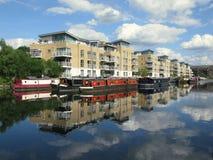 Boats in Brentford Marina, London, UK Stock Images