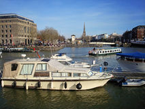 Boats in Bristol. Several boats in the harbourside of Bristol, Avon, UK Stock Image