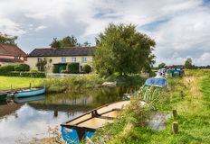 Boats on the Broads. Boats on the River Thurne at West Somerton on the Norfolk Broads royalty free stock image