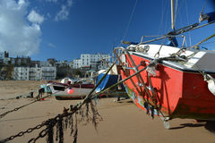 Boats on Broadstairs beach UK Royalty Free Stock Photography