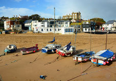 Boats on Broadstairs beach UK Royalty Free Stock Photos