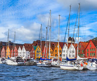 Boats at the Bryggen Royalty Free Stock Images