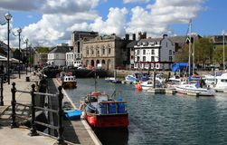 Boats, Buildings, Canal Stock Photography