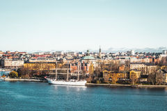 Boats and Buildings of Stockholm, Sweden Stock Photos