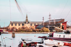 Boats and Buildings of Stockholm, Sweden. Photo of Boats and Buildings of Stockholm, Sweden Stock Photography