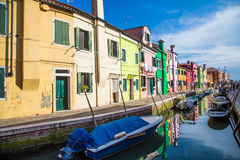 Boats in Burano Stock Photos