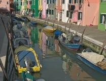 Boats in Burano Stock Photo