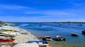 Boats in Cabanas royalty free stock images
