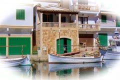 Boats in Cala Figuera, Mallorca. Pretty boats in Cala Figuera in Mallorca Stock Photo