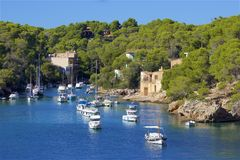 Boats in Cala Figuera, Mallorca. Spain Royalty Free Stock Photos