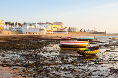 Boats at  Caleta beach. Cadiz Stock Image