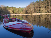 Boats on a calm lake, Ireland Royalty Free Stock Photography