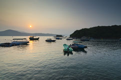 Boats in Calm Sea Stock Images
