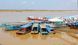 Boats in Cambodia royalty free stock photo
