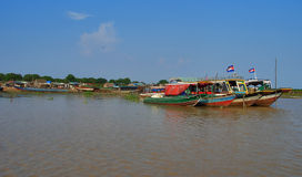 Boats of Cambodia Stock Photo