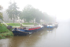 Boats in canal Stock Image