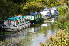 Boats on a Canal Stock Photography