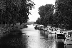 Boats in the canal Stock Photography