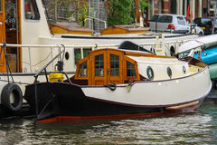 Boats on a canal in Amsterdam. Netherlands Stock Image