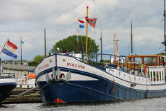 Boats on a canal in Amsterdam. Netherlands Royalty Free Stock Image