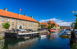 Boats on a canal in Copenhagen Royalty Free Stock Photo