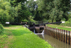 Boats in a Canal Lock Royalty Free Stock Images