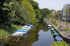 Boats in a canal Royalty Free Stock Photo