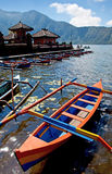 Boats at Candi Kuning Royalty Free Stock Image
