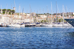 Boats in Cannes, France royalty free stock photo
