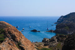Boats at Cap de Creus, Girona Royalty Free Stock Photos