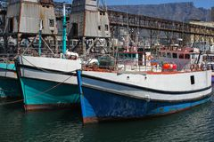 Boats at Cape Town Harbor Stock Photos
