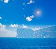 Boats in Capo Caccia Stock Image