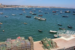 Boats in Cascais Stock Images