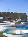 Boats by the Castle Royalty Free Stock Images
