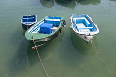 Boats in Castro Urdiales Stock Images