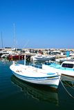 Boats in Chania harbour, Crete. Stock Photos